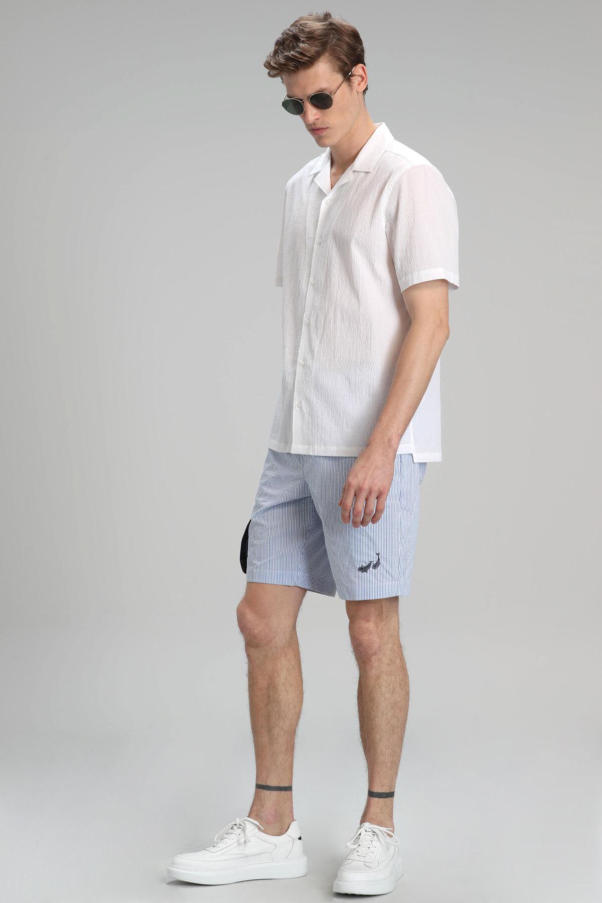 Andera Spor Erkek Chino Şort Slim Fit Mavi