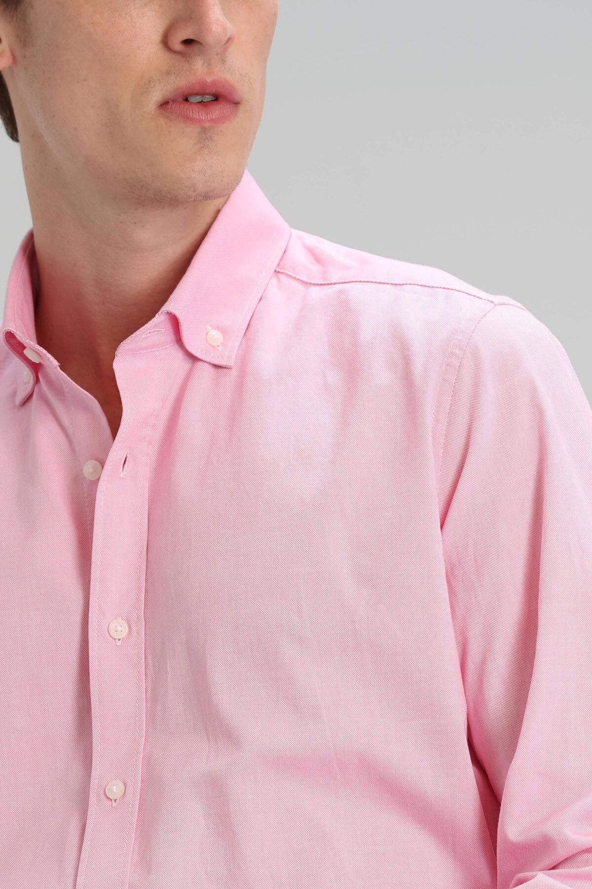 Danıel Erkek Basic Gömlek Comfort Slim Fit Pembe