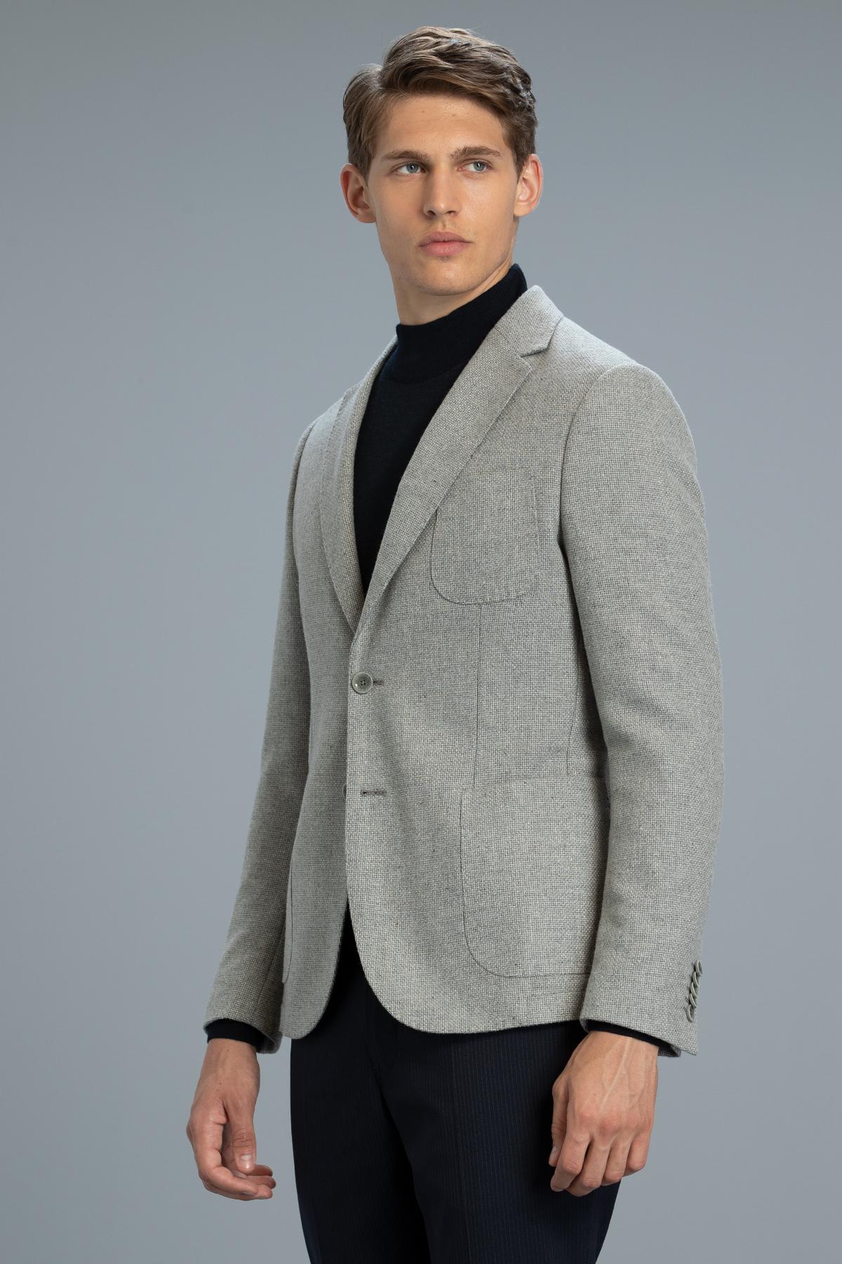 Erla Spor Blazer Ceket Slim Fit Gri