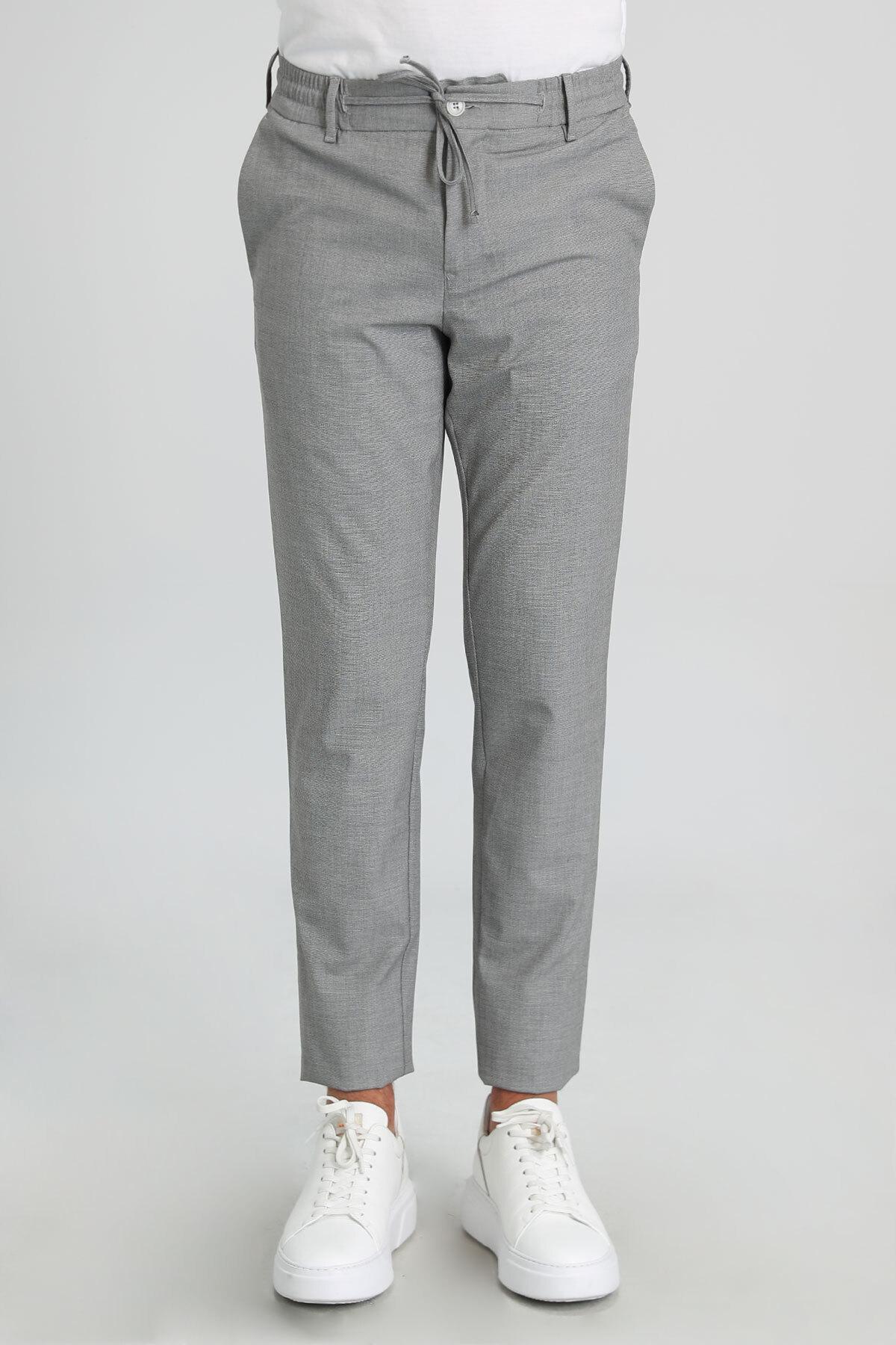 Gone Spor Erkek Chino Pantolon Tailored Fit Gri