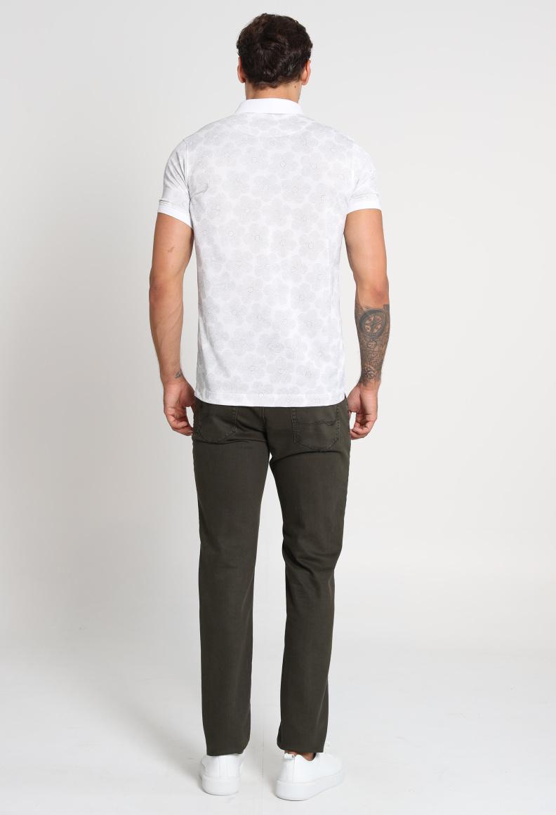 Larus Spor 5 Cep Pantolon Slim Fit Haki