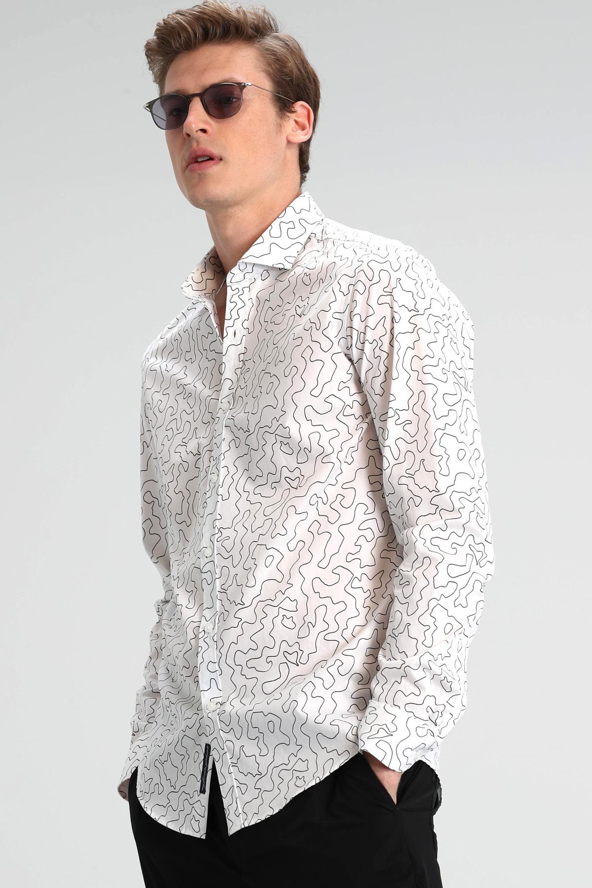 Mape Erkek Smart Gömlek Slim Fit Beyaz