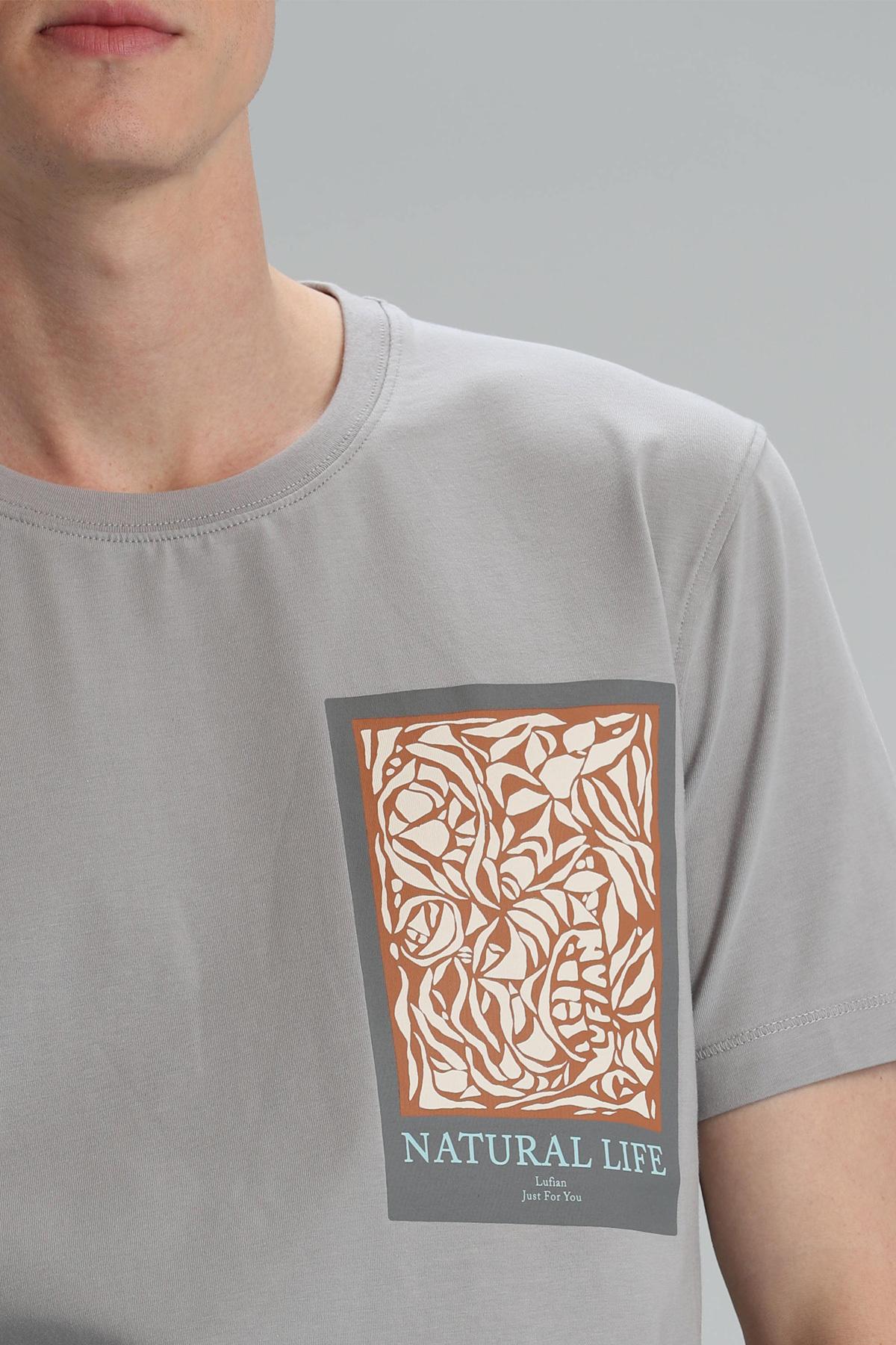 Mark Modern Grafik T- Shirt Gri