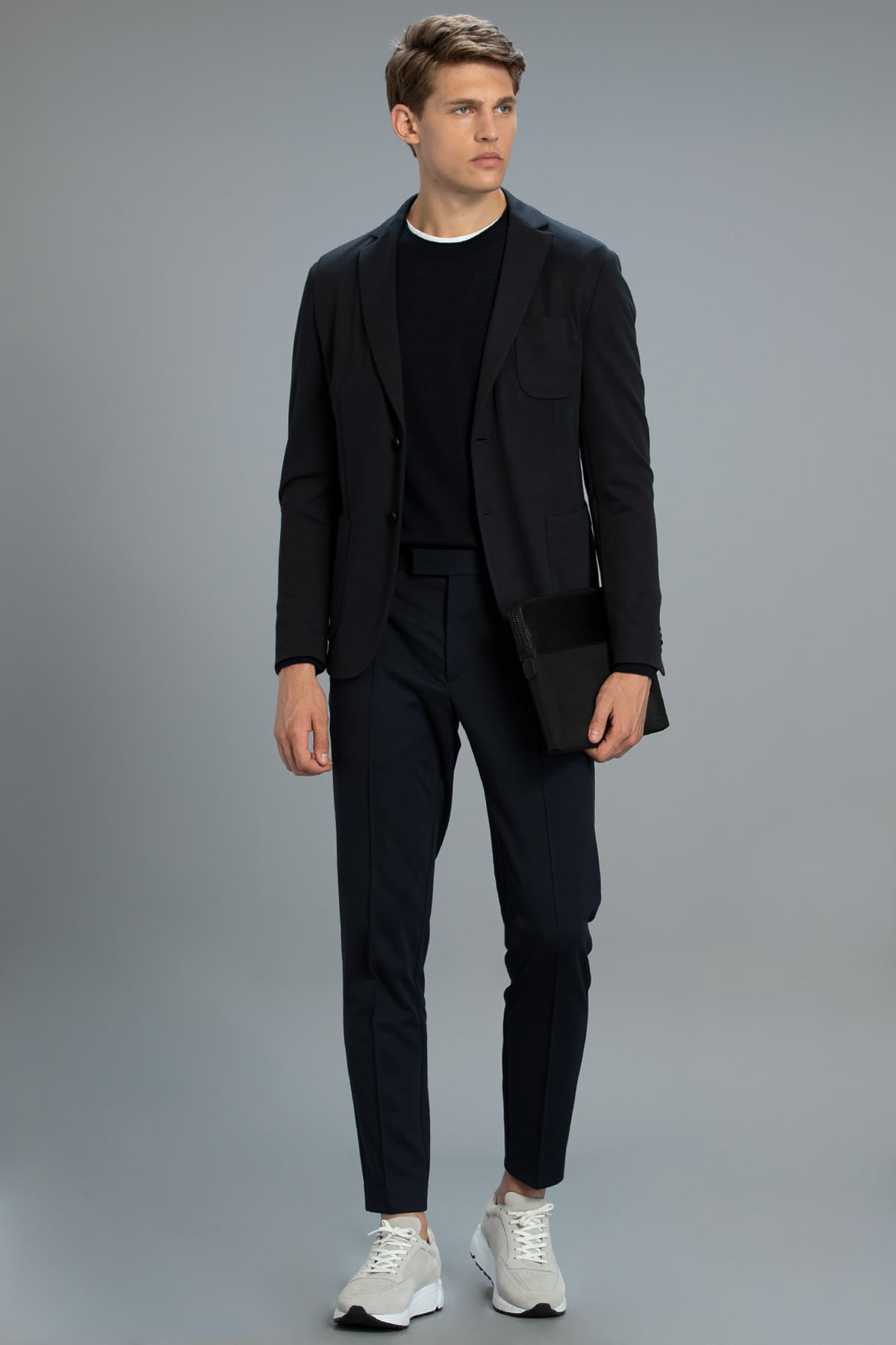 Molea Spor Blazer Ceket Slim Fit Lacivert