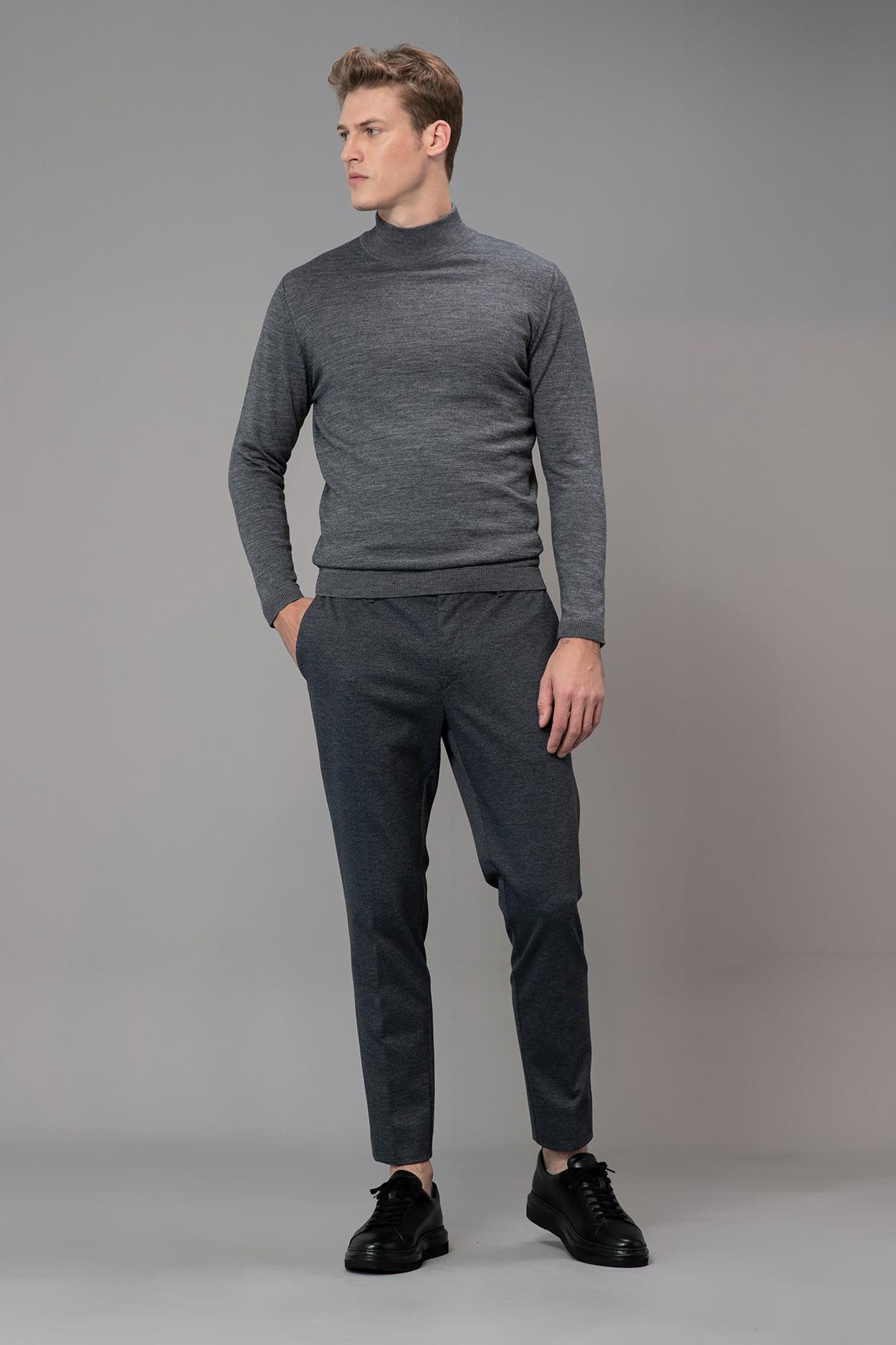 Okmar Smart Chino Pantolon Slim Fit Gri