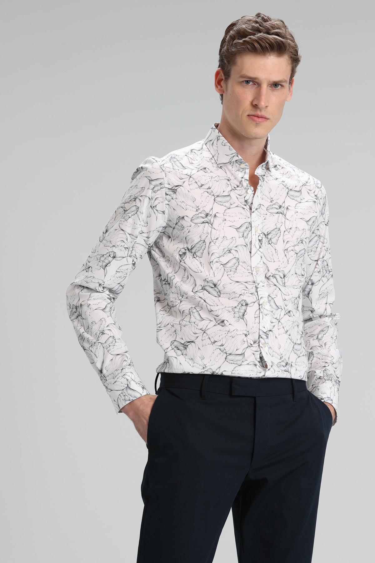 Pablo Erkek Smart Gömlek Slim Fit Gri