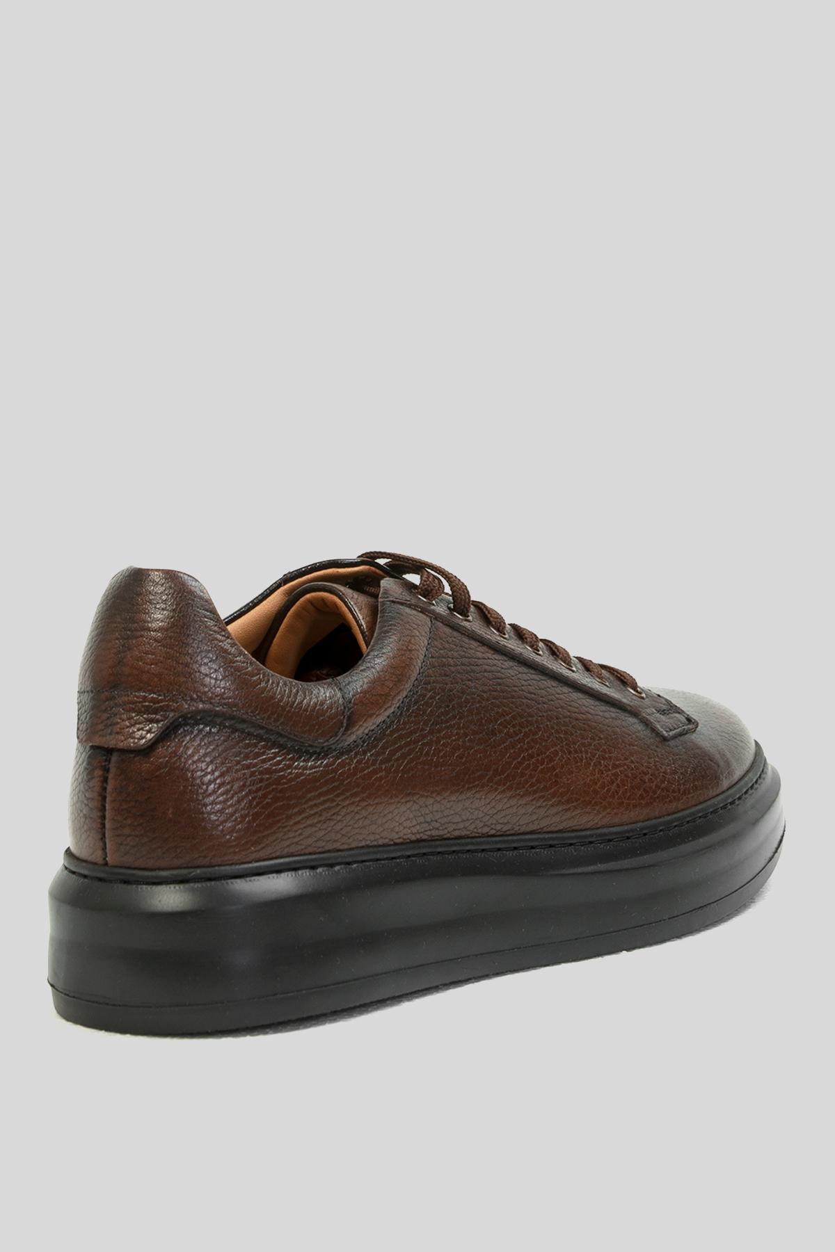 Plaın Deri Sneaker Kahverengi