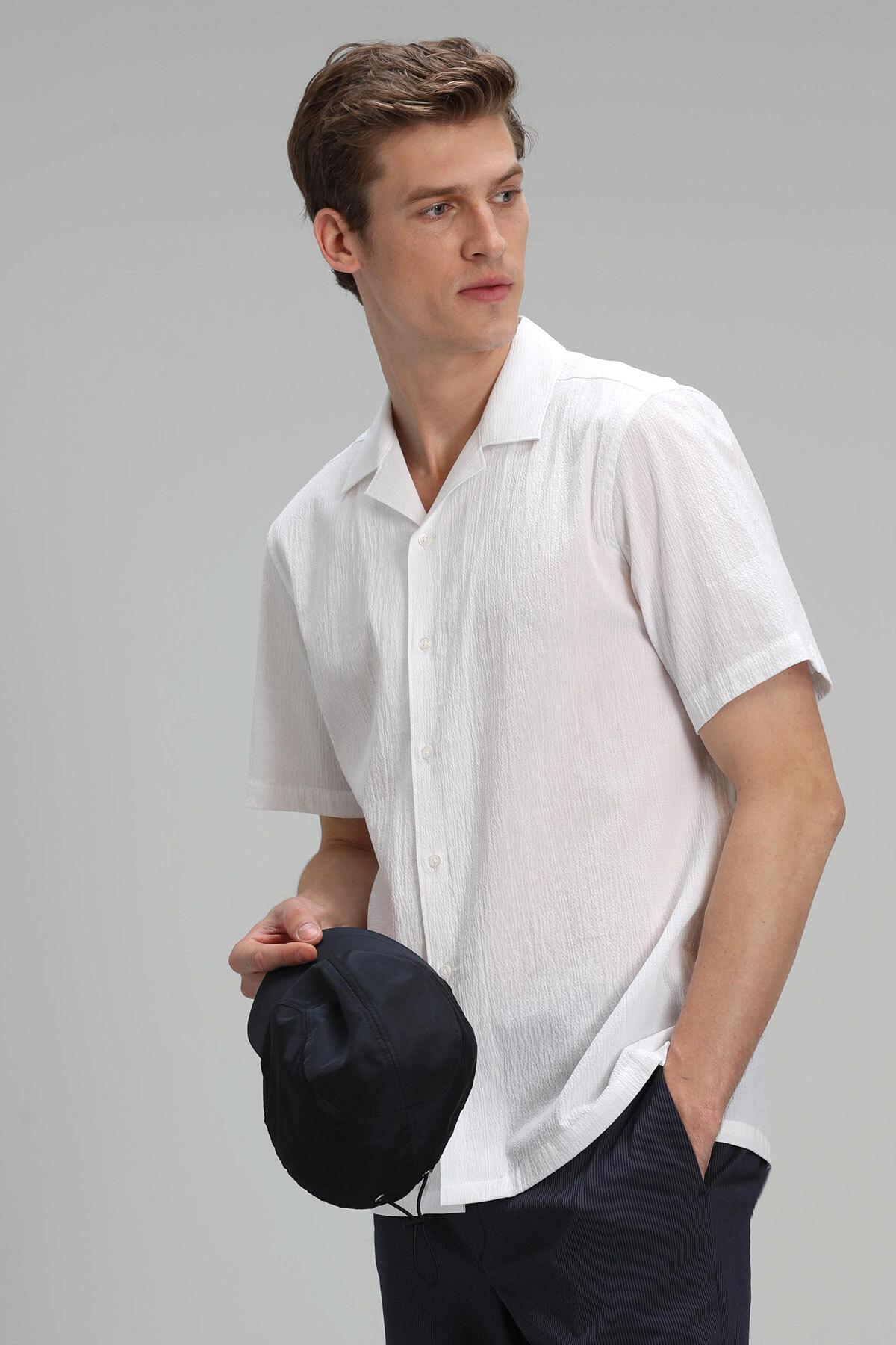 Revla Erkek Spor Gömlek Resort Fıt Beyaz