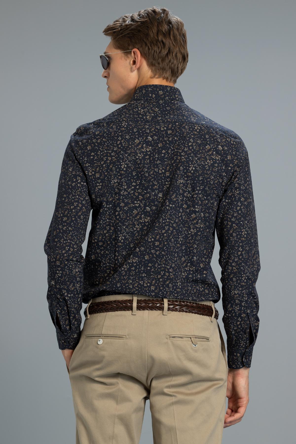 Savor Erkek Smart Gömlek Slim Fit Lacivert