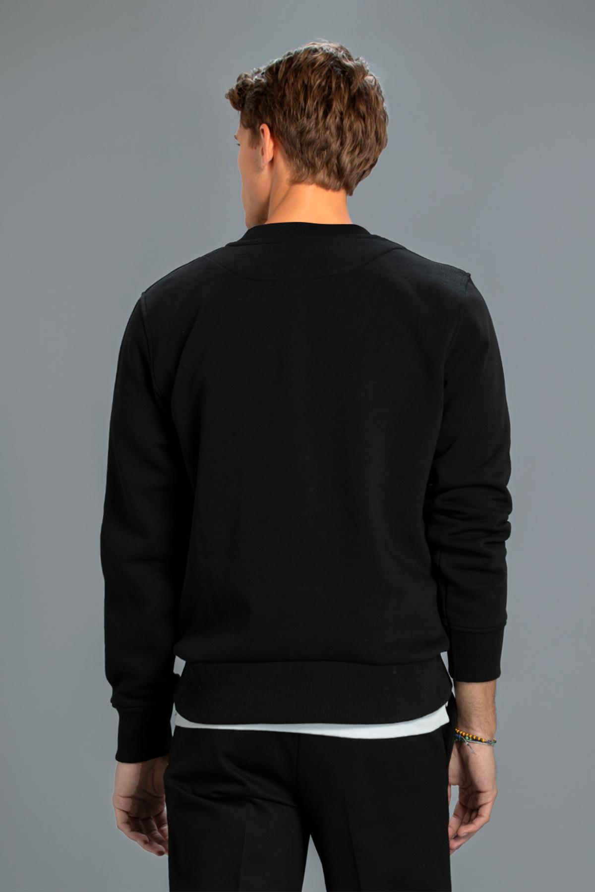 Star Erkek Sweatshirt Siyah