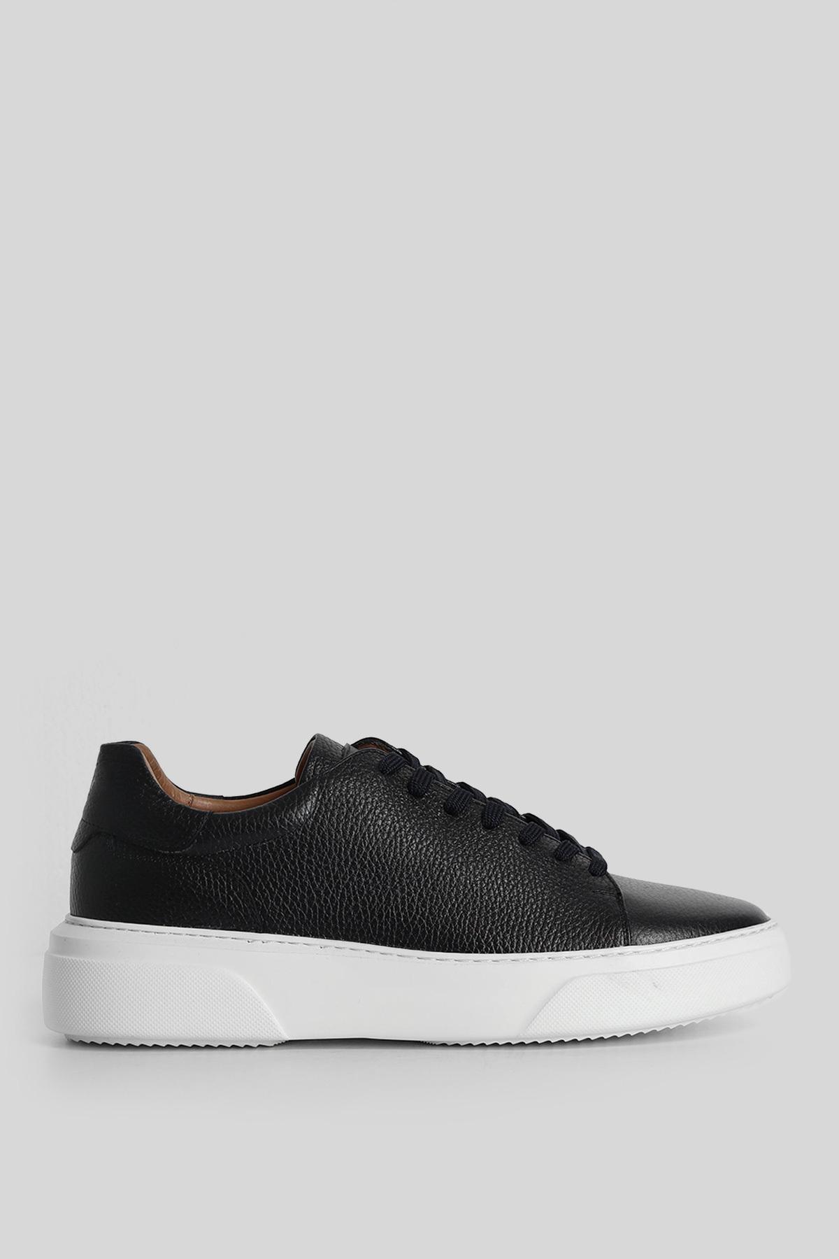Tommy Deri Sneaker Lacivert